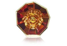 Flower Burst Ring (One of a Kind)  created by Atelier Munsteiner  Flower Burst Ring in 18k yellow gold with a custom-cut citrine