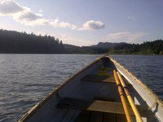 Adrift on Cusheon Lake, Salt Spring Island, British Columbia. Canada