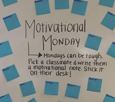 Starting each week lifting up members of the class could go a long way. I love this idea and what it would do for both classroom community and motivation. Classroom Organization, Classroom Management, Classroom Ideas, White Board Organization, Classroom Routines And Procedures, Br Games, Bell Work, Responsive Classroom, Classroom Community