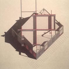 Eisenman Robertson Architects Firehouse for Engine Company 223 Ladder Company 176 Axonometric Brooklyn New York 1984 by archiveofaffinities
