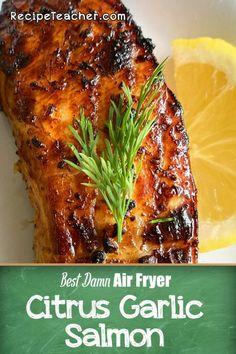 Salmon Recipes, Seafood Recipes, Fish Dishes For Dinner, Blackened Fish Recipe, Air Fryer Fish Recipes, Crispy French Fries, Garlic Salmon, Veggie Chips, Salmon Seasoning