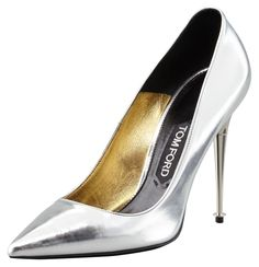 Tom Ford Mirror-Leather Pointed Toe Pumps
