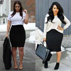 5f07fe8831e 55 Amazing Outfits With Black Pencil Skirts