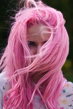 Pink♥ | via Tumblr #prom pink hairstyles