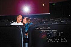 Movie theme engagement photo idea