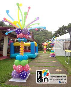 Decoración con globos de Lalaloopsy