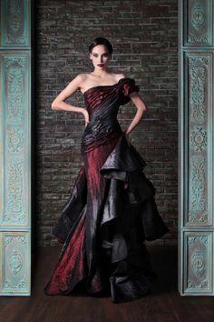 Draped Silk Radzimir Couture Dress