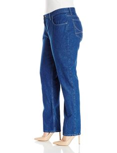 c27df02311d Riders by Lee Indigo Womens Plus Size Camden Relaxed Fit 5 Pocket Jean  Indigo Denim 26M     Click on the image for additional details.