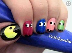 Easy Pacman Nails