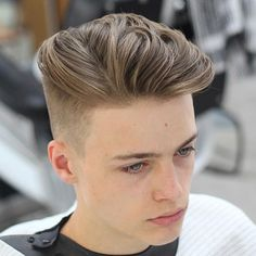 High Tapered Fade with Long Textured Slick Back