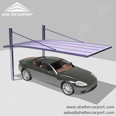 Metal Carport-Aluminium Car port-Single Parking Shed-Sunshield Carport Carport Garage, Pergola Carport, Cantilever Carport, Car Porch Design, Aluminum Carport, Car Shed, Car Canopy, Carport Designs, Building A Porch
