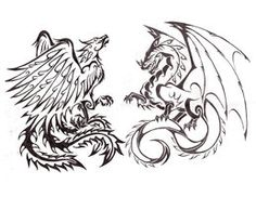 Dragon Phoenix combo tattoo by Saera-Song on deviantART