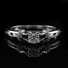 1.45 Ct Round Cut D/VVS1 Diamond Sterling Silver  Engagement Band Ring by JewelryHub on Opensky