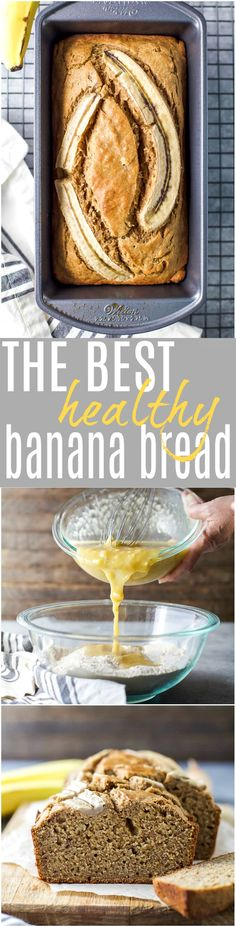 The BEST Healthy Banana Bread Recipe you'll ever need. An easy to make banana bread that's super moist and refined sugar free.