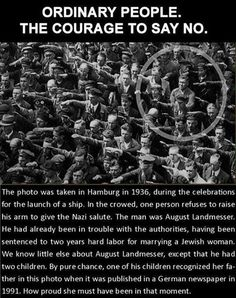 History Discover Thanks for being you August LandmesserRIP. Thanks for being you August LandmesserRIP. August Landmesser Angst Quotes Gives Me Hope Good People Amazing People Special People Amazing Things Belle Photo In This World August Landmesser, I Smile, Make Me Smile, Angst Quotes, Ayn Rand, Cool Stuff, Plantation, History Facts, Strange History