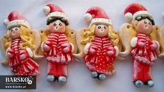 Mikołajowe Aniołki z masy solnej Salt Dough, My Works, Food Art, Angels, Entertaining, Christmas Ornaments, Holiday Decor, Christmas Ornament, Funny