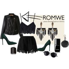 Romwe by zahirovic on Polyvore featuring мода, Twin-Set, Casadei, Lulu Frost, Fendi, Chanel and Essie