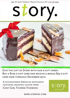 Story E-gift cards on sale! Spend $100, receive $25 bonus!  Buy now at story.instagift.com
