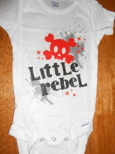 Little Rebel Punk Rock Onesie for Baby boy with Red by Studio1000, $9.99