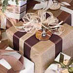 burlap mantel ideas christmas | Christmas Decorating Ideas: Burlap Gifts