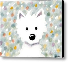Sold - Westie Floral Impression