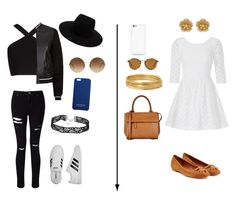 """""""The two kinds!"""" by aliza-ahmed on Polyvore featuring BCBGMAXAZRIA, Miss Selfridge, rag & bone, Victoria Beckham, Balmain, adidas, Lilly Pulitzer, Vanessa Bruno, Barbara Bui and Ray-Ban"""