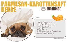 Rezept: Parmesan-Karottensaft Kekse für Hunde Hundkekse selbst backen