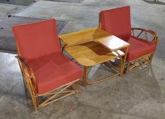 Heywood Wakefield Bamboo Set with New Cushions  —