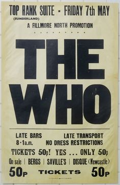 the Who appearing at the Top Rank Suite A Fillmore North Production in Sunderland, England on 571971