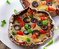 Portobello pizza's zonder deeg