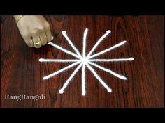 Design Discover Latest Rangoli Design with 32 dots Rangoli Designs Flower, Small Rangoli Design, Rangoli Ideas, Colorful Rangoli Designs, Rangoli Designs Diwali, Rangoli With Dots, Simple Rangoli, Choli Blouse Design, Latest Rangoli