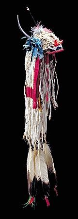 Piegan horn headdress. This image is from a great site that breaks down all the different Native American and Mayan headdresses.    http://www.native-languages.org/headdresses.htm