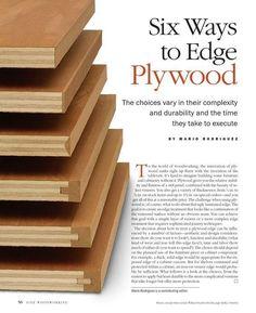 Six ways to edge plywood #WoodworkingIdeas