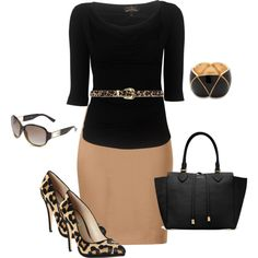 Black and beige by missyalexandra on Polyvore