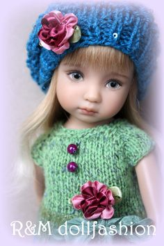 """R M Dollfashion OOAK Romantic Line Outfit for Effner Little Darling 13"""" Doll 