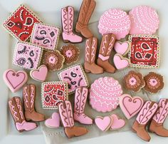 Cowgirl Party Cookies - glorioustreats.com. @Samantha Goodrich These made me think of Madacyn ... :)