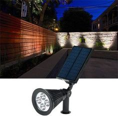 Premium Solar-Powered Landscape Sensor Lights - Adjustable Spotlight for Your Pool, Patio, Yard and More!