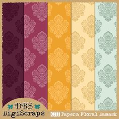 DBS DigiScraps: Free CU Floral Damask Papers