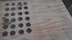 DIY Kcup holder from plywood using a 1 5/8 hole saw bit