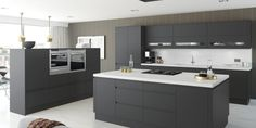 We offer the highest standard Handleless Matt Anthracite Kitchen Units at Kitchen Warehouse. Come and check out our range online today! Handleless Kitchen, Kitchen Worktop, Kitchen Units, New Kitchen, Kitchen Interior, Kitchen Furniture, Furniture Cleaning, Office Furniture, Anthracite Kitchen