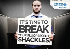 Sara L., Fall 2016, Section 1. This advertisement by Cree Lighting, the maker of LED light bulbs shows poor lighting in a small office cubicle. Another example of a simple, concrete image, both the facial expressions of the employee as well as the bright, bold message he is holding, sticks with the audience quickly. Link: http://green.blogs.nytimes.com/2009/05/07/light-bulb-makers-talking-trash/