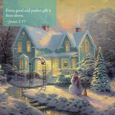 Thomas Kinkade Blessings of Christmas painting is available for sale; this Thomas Kinkade Blessings of Christmas art Painting is at a discount of off. Christmas Scenes, Christmas Pictures, Christmas Art, Victorian Christmas, Country Christmas, Victorian Angels, Christmas Houses, Cottage Christmas, Christmas Fireplace