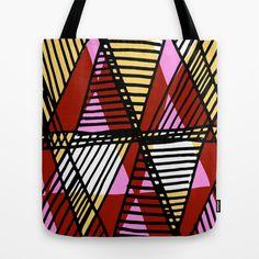 Triangular+lines+Tote+Bag+by+Sarah+Bagshaw+-+$22.00