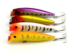 HENGJIA 400pcs Fishing Lure 95MM original popper Lure Bait tackle trout 4 color  9.5CM 11.7G 4#hooks  (PO001)  japan hooks