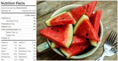 As it turns out, the watermelon has a lot more to offer than its sweet flavor and plenty of water. This refreshing fat-free and low-sodium fruit actually contains a powerful bunch of nutrients such… Watermelon Nutrition Facts, Low Calorie Snacks, Saturated Fat, Vitamin C, Fun Facts, Amazing Facts, Health, Food, Loosing Weight