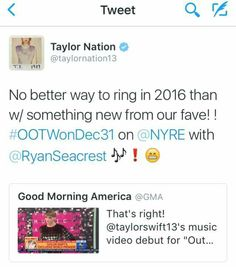 Okay, the 1989 World Tour Live was amazing, but now a new music video too?! I CAN'T EVEN.