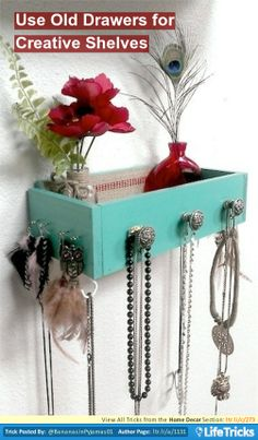 Home Decor - Use Old Drawers for Creative Shelves
