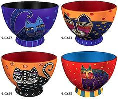 Laurel Burch cat bowls