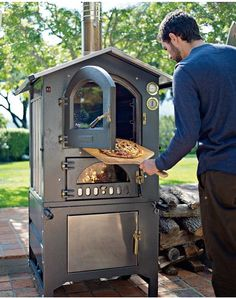 This is what I want for my birthday, yes indeedy! Fontana Gusto Wood-Fired Outdoor Ovens from williams-sonoma.com