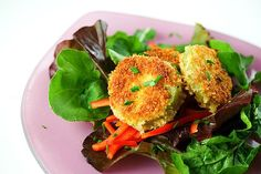 Fried Green Tomato Salad with Sweet Chili Dressing + Menu For Hope ~ http://steamykitchen.com